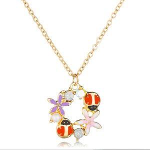 Ladybug Starfish Flower Ornament Pendant Necklace